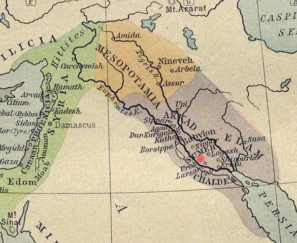 Mapa de Uruk